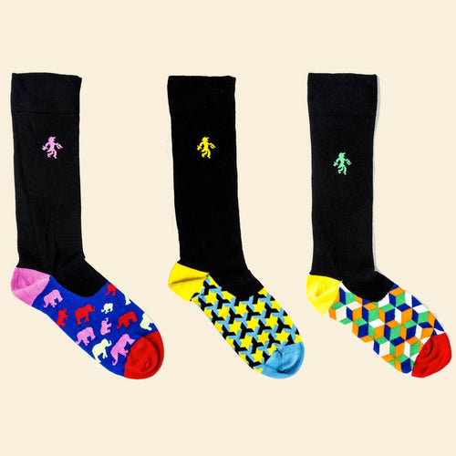 OUTLET Black Trio Socks