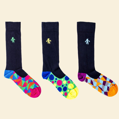 OUTLET Navy Trio Socks