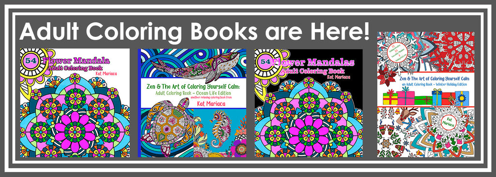 Flower Mandala Adult Coloring Book - Now Available