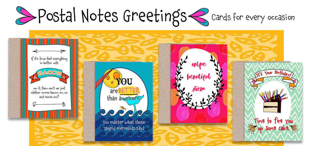 Greeting Card Collection - Introducing Postal Notes Greetings