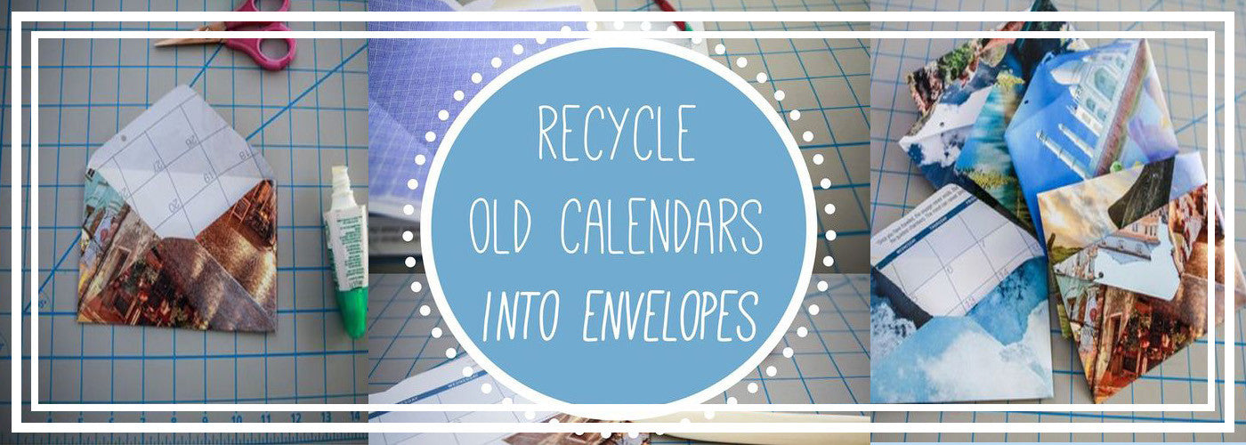 How to Recycle Old Calendars into Colorful Envelopes - Great Envelope Art Tutorial!