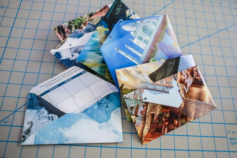 Recycle Calendars Into Envelope Art - courtesy of Susie Delaney