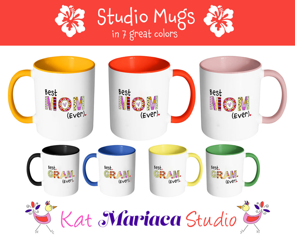 Best Mama Ever - 2-Tone Coffee Mug Gift for Your Mother