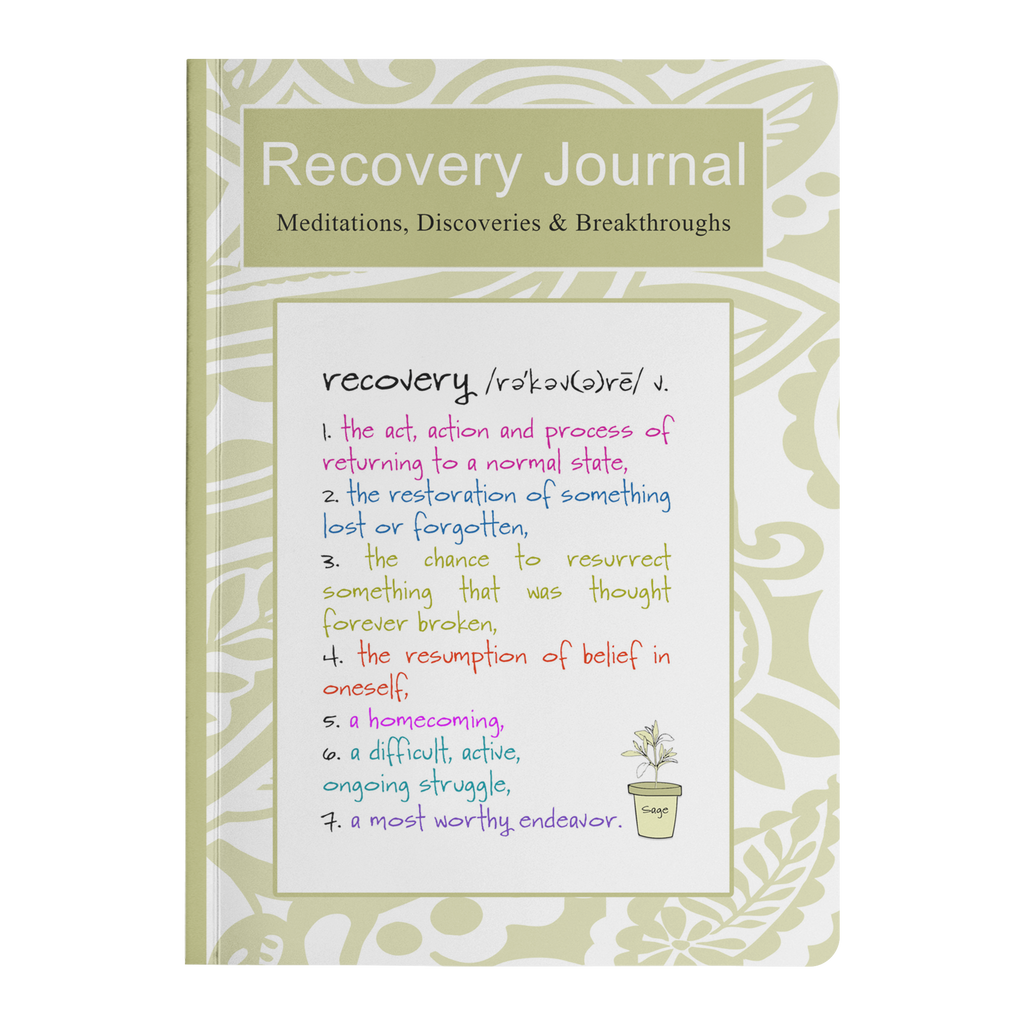 Recovery Journal - Addiction Recovery Notebook - Sobriety Diary