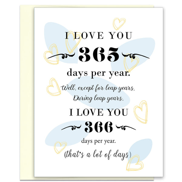 Unique Love Card - 365 Days Per Year - KatMariacaStudio - 1