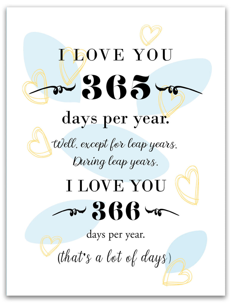 Unique Love Card - 365 Days Per Year - KatMariacaStudio - 3