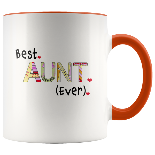 Best Aunt Ever - 2-Tone Coffee Mug Gift for Your Aunt