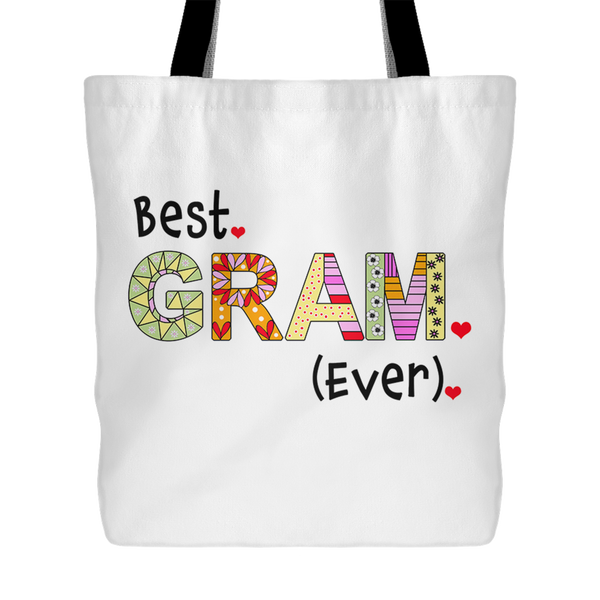 Best Gram Ever - Gift Idea - Sturdy Gift, Shopping Gym,Yoga, Beach, Book, Tote Bag for Your Grandma, 18 x 18 - KatMariacaStudio