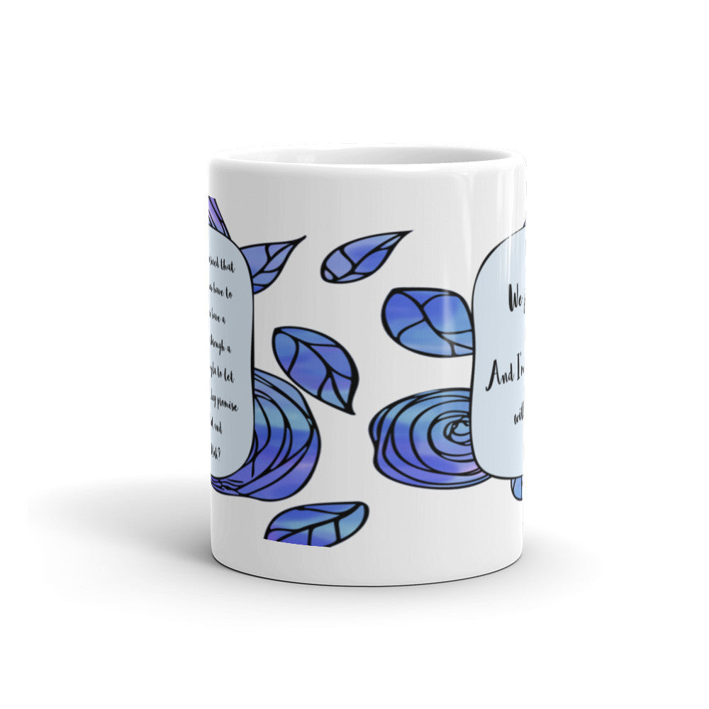 A Whole Lot of Hoopla - Blue - Best Friend Mug - KatMariacaStudio - 3