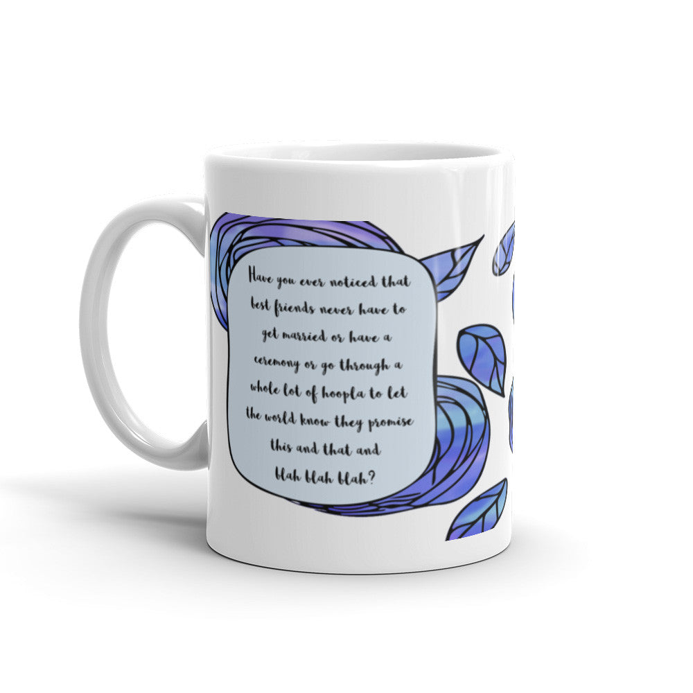 A Whole Lot of Hoopla - Blue - Best Friend Mug - KatMariacaStudio - 1
