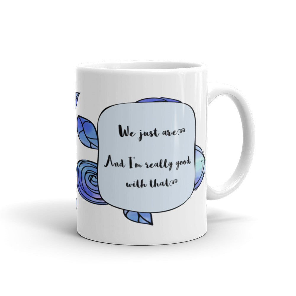 A Whole Lot of Hoopla - Blue - Best Friend Mug - KatMariacaStudio - 2
