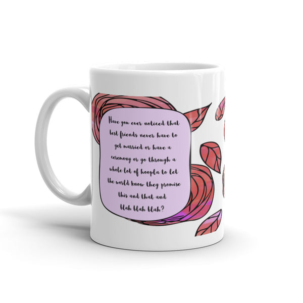 A Whole Lot of Hoopla - Pink - Best Friend Coffee Mug - KatMariacaStudio - 1