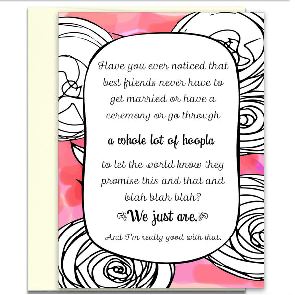 Unique Card for Best Friend - A Whole Lot of Hoopla in Pink - KatMariacaStudio - 1