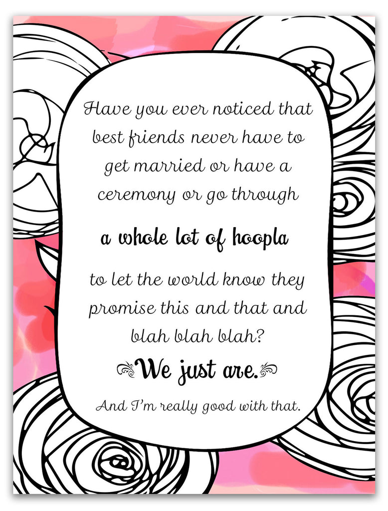 Unique Card for Best Friend - A Whole Lot of Hoopla in Pink - KatMariacaStudio - 3