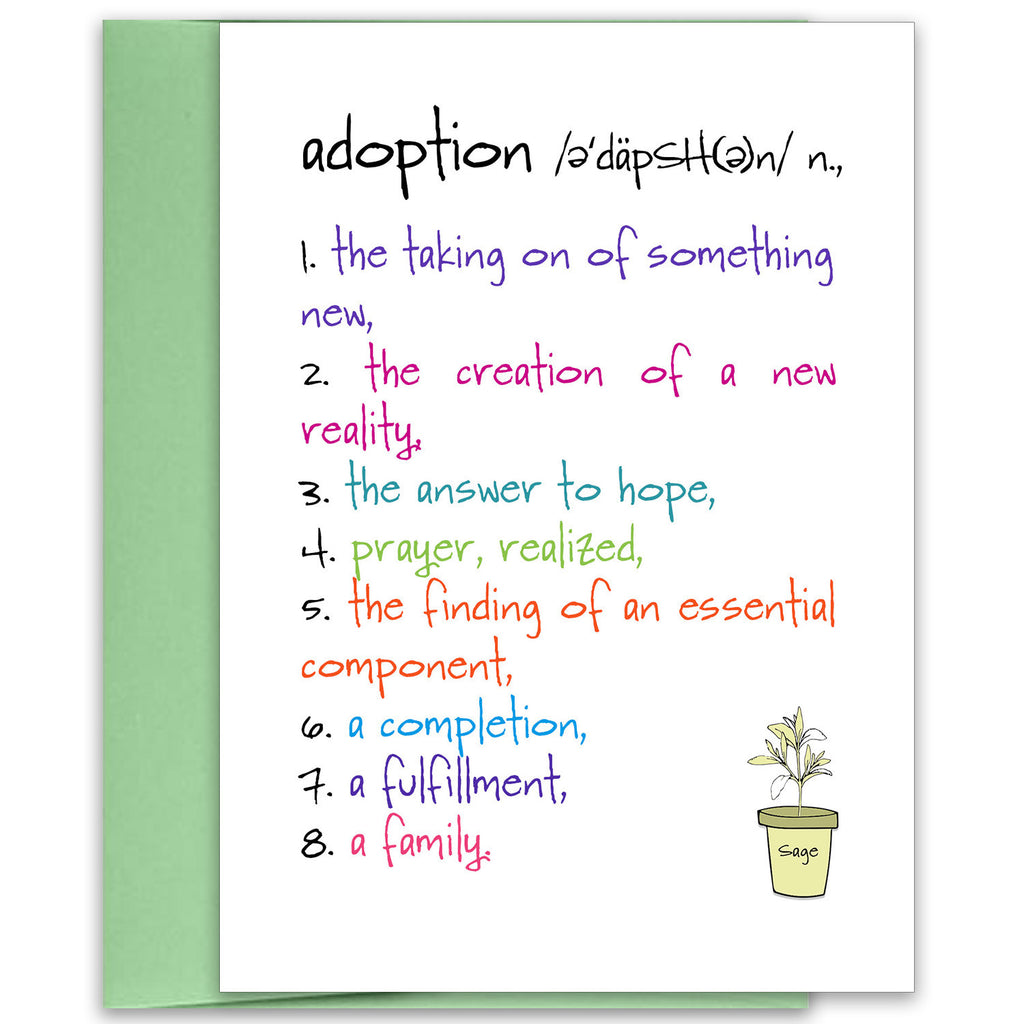 Adoption - a Family Celebration Greeting Card - KatMariacaStudio