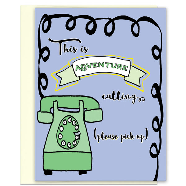 Adventure Calling - an Encouragement Card - KatMariacaStudio - 1