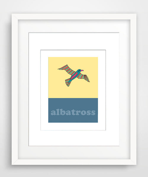 Albatross - Modern Nursery Room Art - Matted Art Print