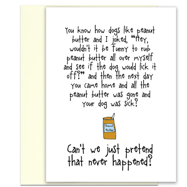 Funny Adult Greeting Card - All Out of Peanut Butter - KatMariacaStudio - 1