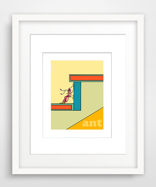Ant - Matted Modern Nursery Art Print in 2 Sizes - Modern Nursery Art - KatMariacaStudio