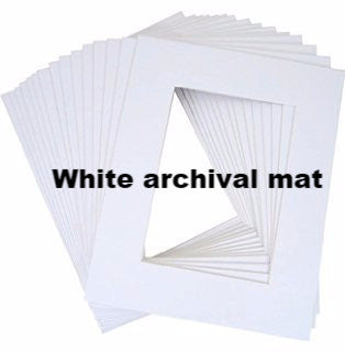White Archival Mat for 5 x 7 Cards and Art Prints - KatMariacaStudio - 2