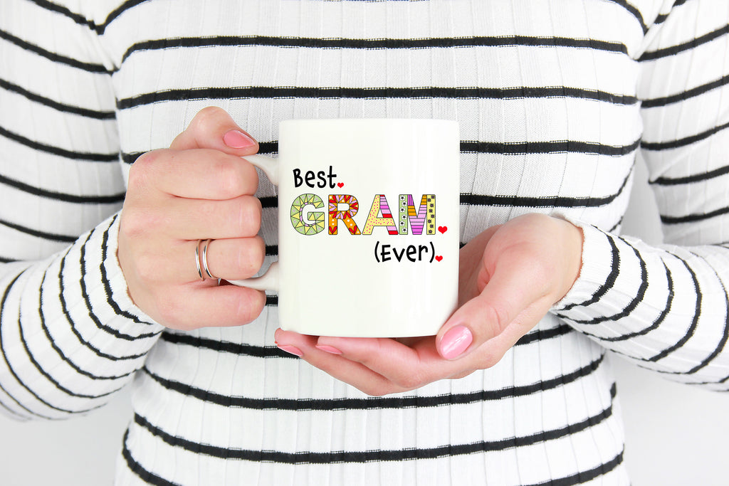Best Gram Ever Coffee Mug - Gift Idea for Your Grandmother - Grandma Birthday Present