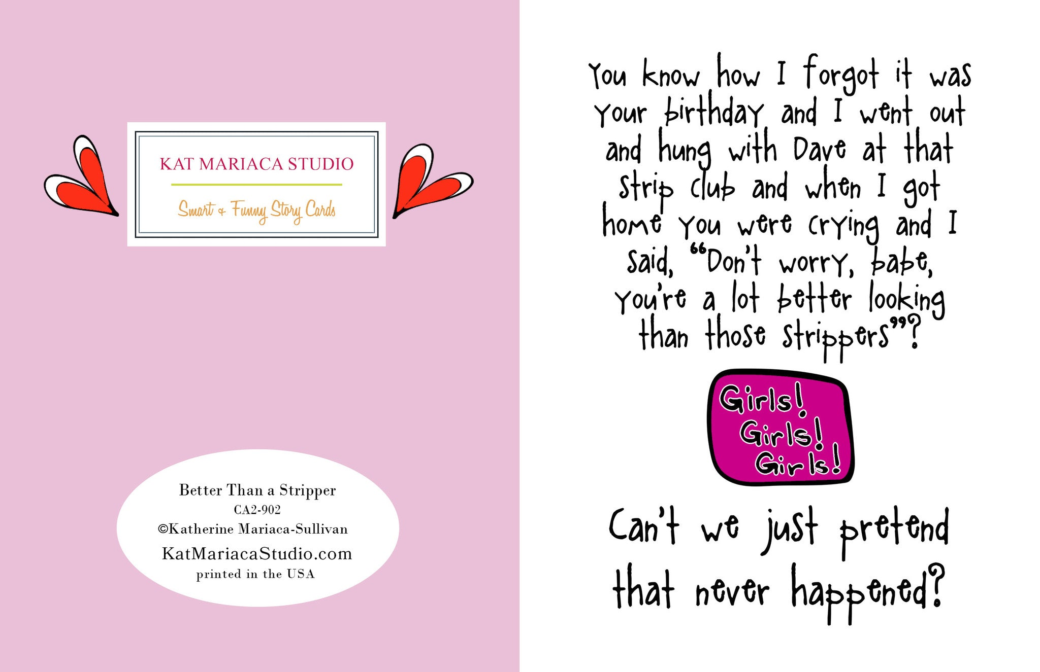 funny birthday card for friend  better than a stripper, Birthday card