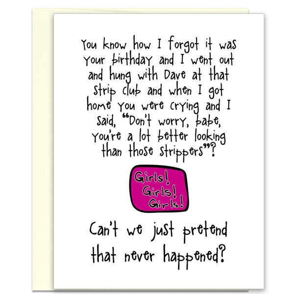 Funny Birthday Card - Better Than a Stripper