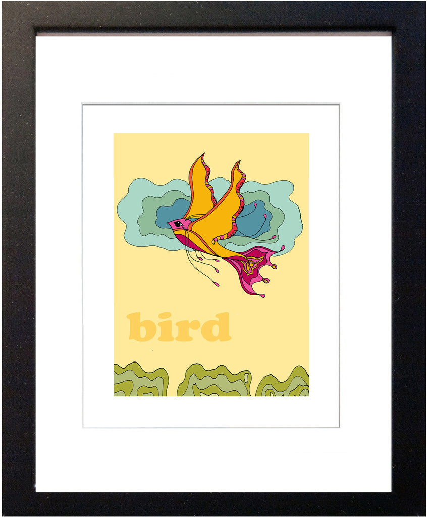 Bird - Modern Nursery Room Art - Matted Art Print