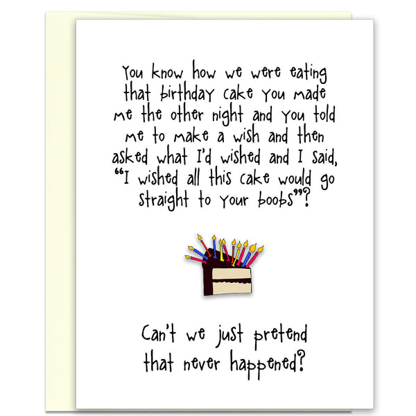 Funny Birthday Card for Friends - Birthday Boob - KatMariacaStudio - 1
