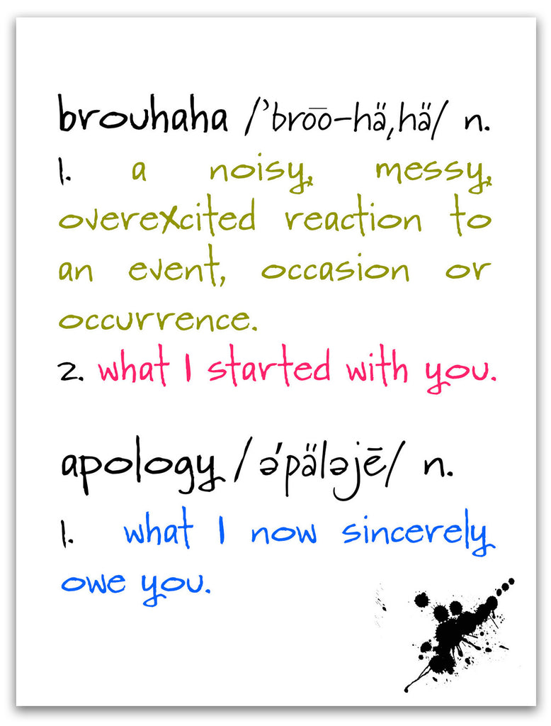 Brouhaha - A Humorous Apology Greeting Card - KatMariacaStudio - 3