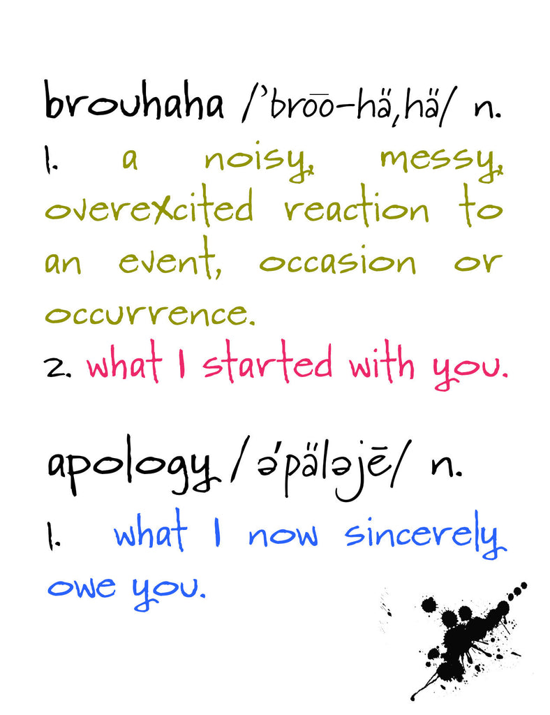 Brouhaha - A Humorous Apology Greeting Card - KatMariacaStudio - 4