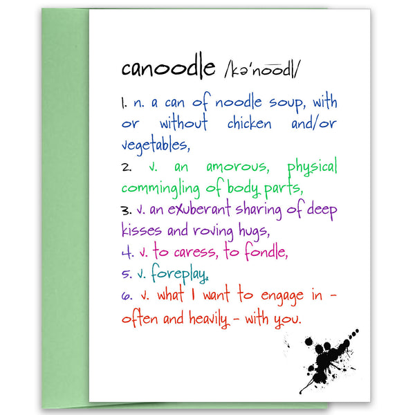 Canoodle - a Love & Lust Greeting Card - KatMariacaStudio - 1