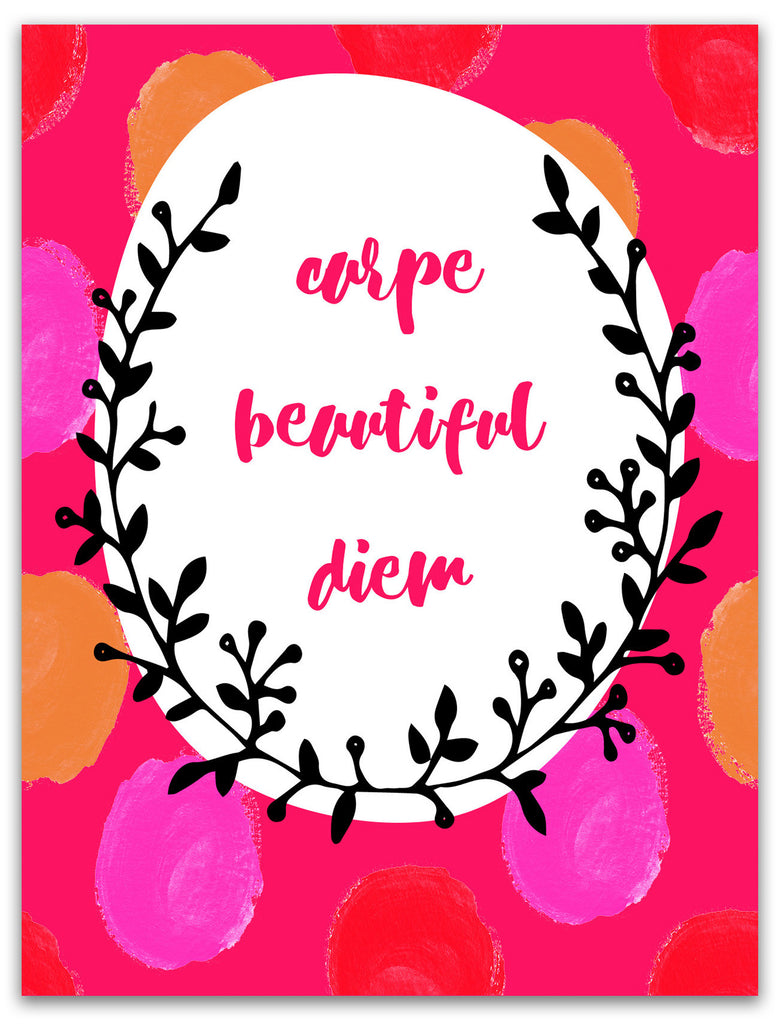 Wish You a Happy Day Card - Carpe Beautiful Diem - KatMariacaStudio - 3