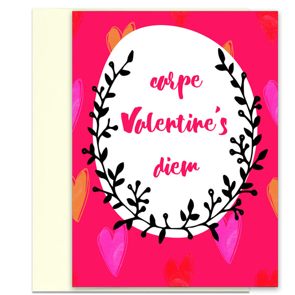 Carpe Valentine's Diem - Beautiful Valentine's Day Card