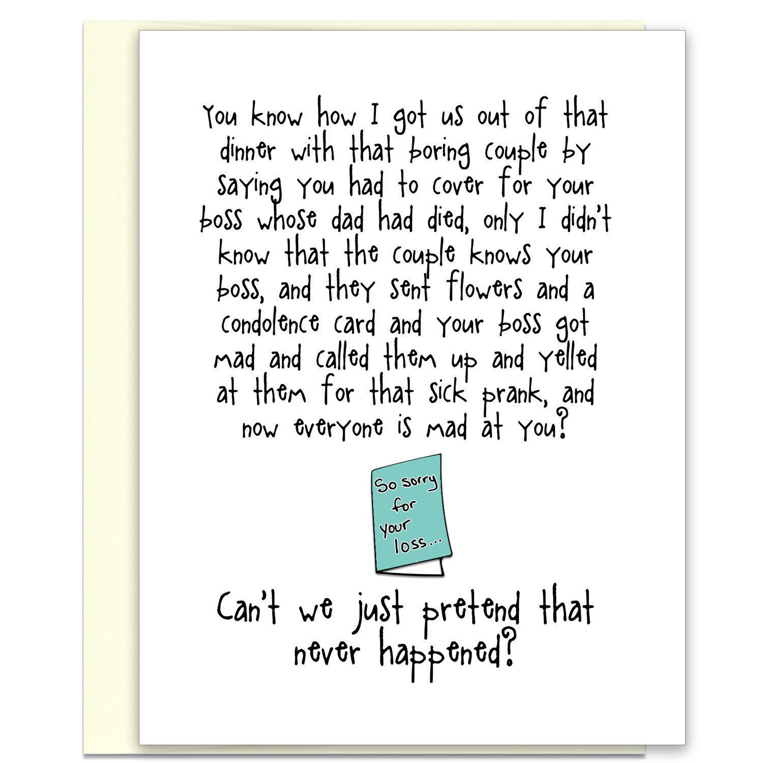 Funny and kind of terrible card condolence card katmariacastudio funny and kind of terrible card condolence card katmariacastudio 1 altavistaventures Images