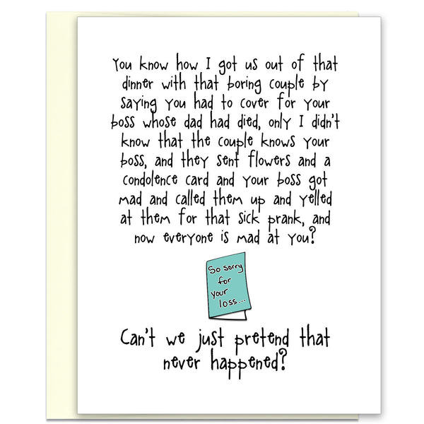 Funny and Kind of Terrible Card - Condolence Card - KatMariacaStudio - 1