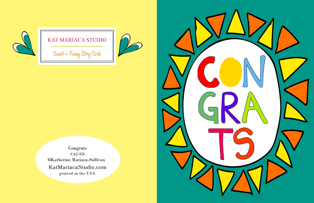 Congrats - a Very Colorful Congratulations Card - KatMariacaStudio - 2