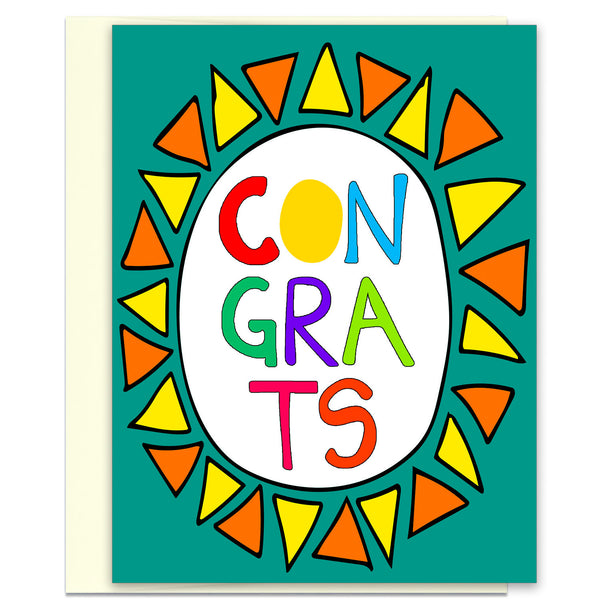 Congrats - a Very Colorful Congratulations Card - KatMariacaStudio - 1
