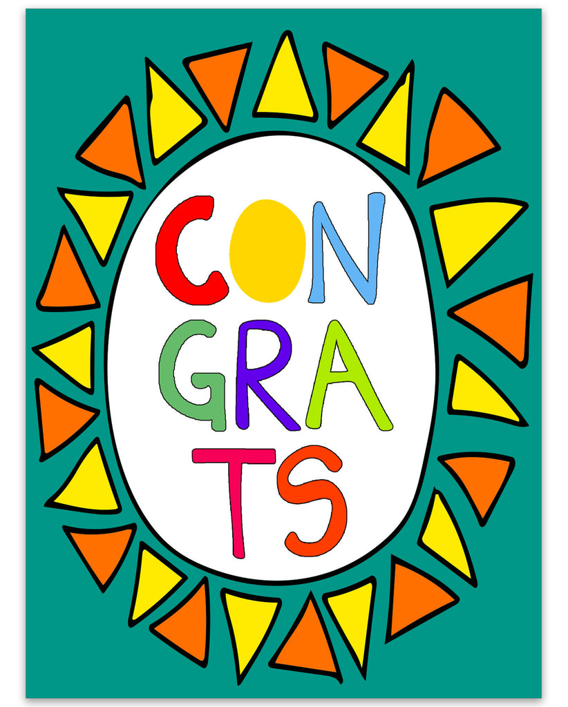 Congrats - a Very Colorful Congratulations Card - KatMariacaStudio - 3