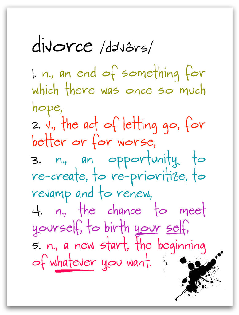 Divorce - a Funny Card about Breaking Up - KatMariacaStudio - 3