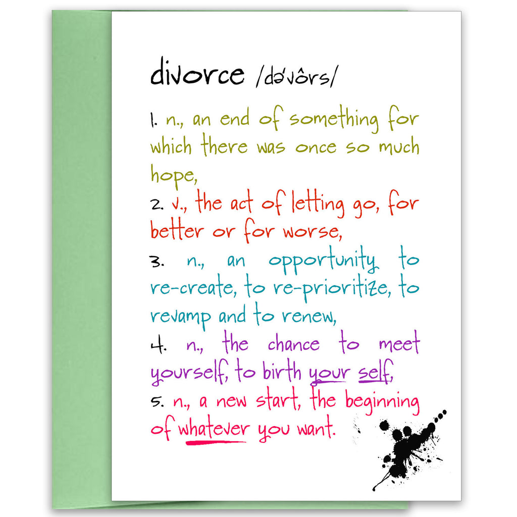 Divorce - a Funny Card about Breaking Up - KatMariacaStudio - 1