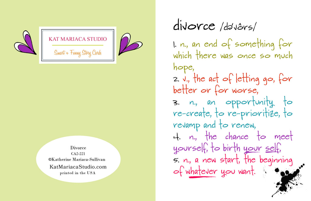 Divorce - a Funny Card about Breaking Up - KatMariacaStudio - 2