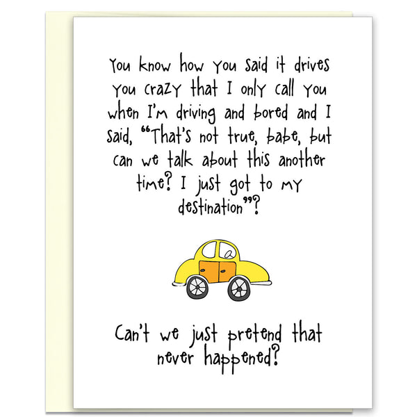 Funny Relationship Card - Driving You Crazy - KatMariacaStudio - 1