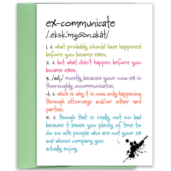 Excommunicate - a Funny Card about Breaking Up - KatMariacaStudio - 1