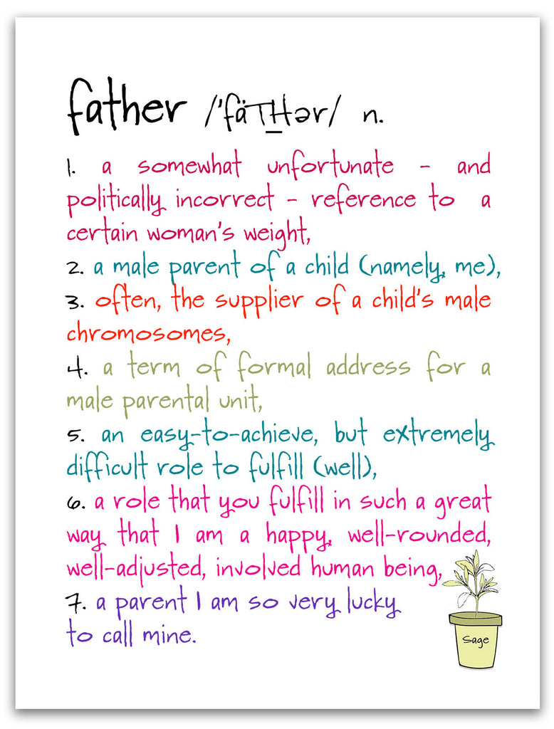 Father - a Celebration of Dad Greeting Card