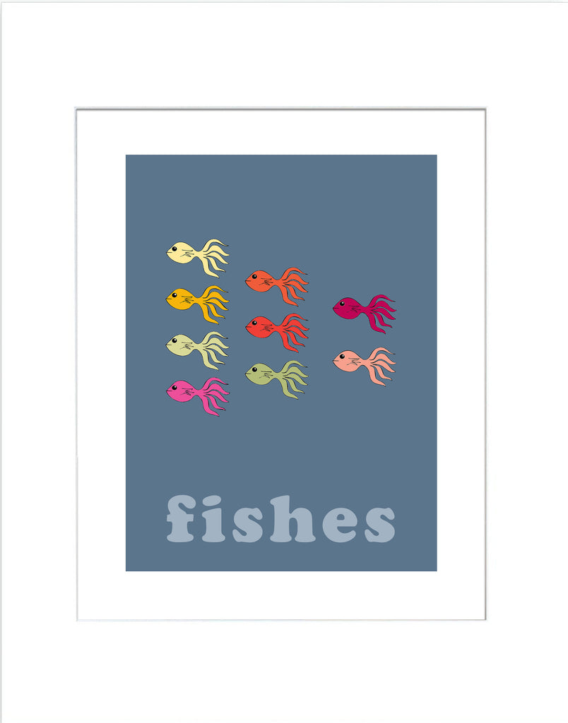Fishes - 8 x 8 Art Print - Modern Nursery Art - KatMariacaStudio - 4
