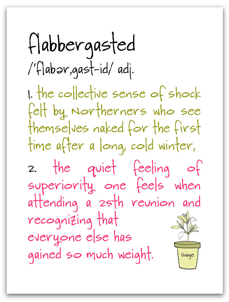 Flabbergasted - a  Very Funny Greeting Card