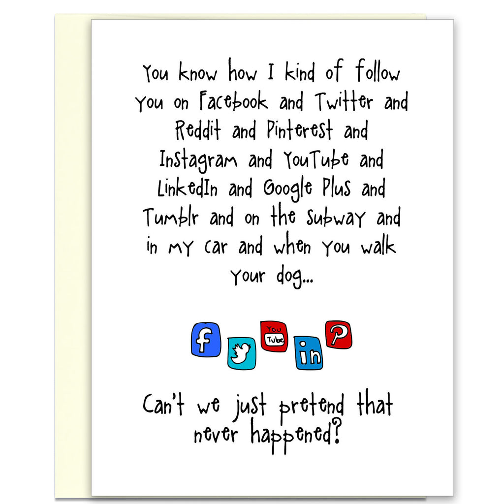 Funny Stalker Card - Following You - from Kat Mariaca Studio - KatMariacaStudio - 1