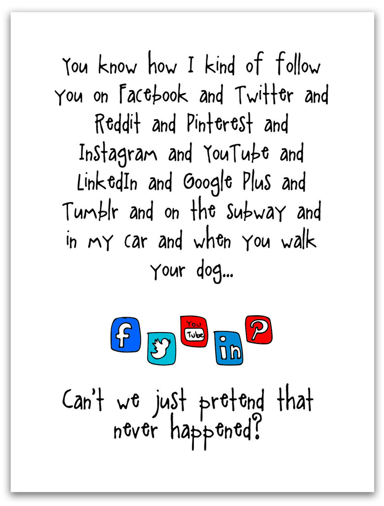 Funny Stalker Card - Following You - from Kat Mariaca Studio - KatMariacaStudio - 3