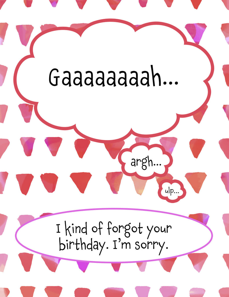I Missed Your Birthday Apology Card - KatMariacaStudio - 4
